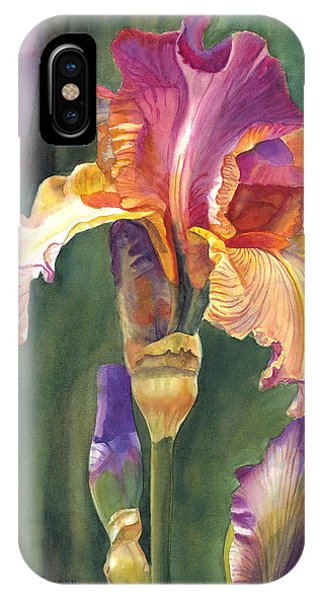 Red-violet iPhone Case - Iris On The Warm Side by Sharon Freeman