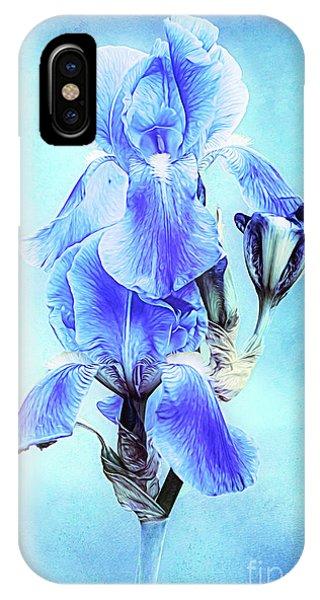 Iris Pair In Blue IPhone Case