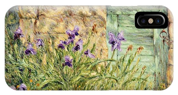 Irises At The Old Barn IPhone Case