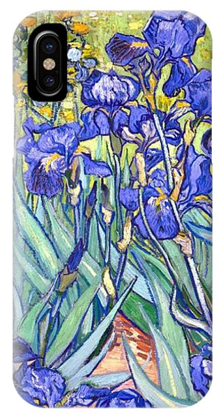 IPhone Case featuring the painting Irises by Van Gogh