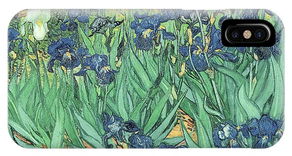 Garden iPhone X Case - Irises by Vincent Van Gogh