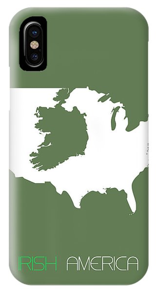 Irish iPhone Case - Irish America Poster by Naxart Studio