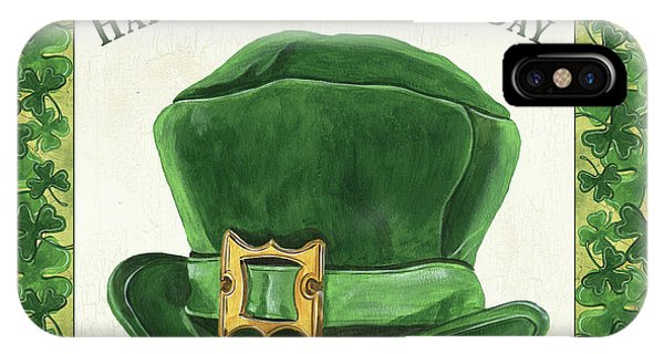 Irish iPhone Case - Irish Cap by Debbie DeWitt