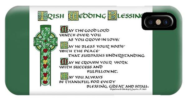 Irish Celtic Wedding Blessing IPhone Case