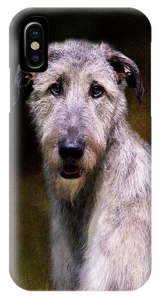 Irish Wolfhound Portrait IPhone Case