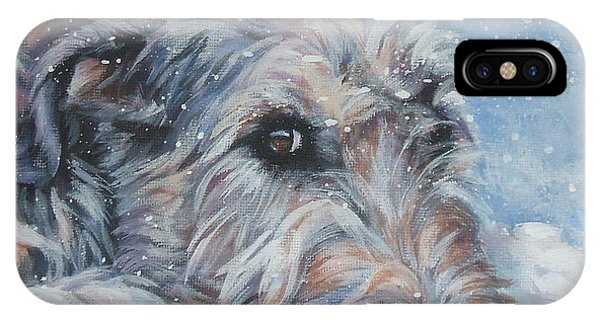 Irish iPhone Case - Irish Wolfhound Resting by Lee Ann Shepard