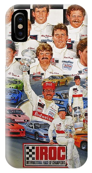 IPhone Case featuring the painting Iroc Racing by Cliff Spohn