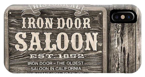 Iron Door Saloon 1852 IPhone Case