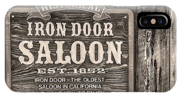 IPhone Case featuring the photograph Iron Door Saloon 1852 by David Millenheft