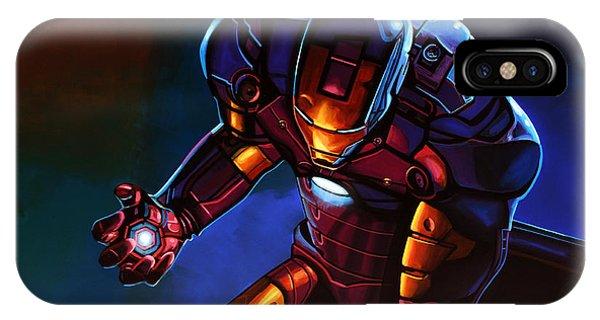 Men iPhone Case - Iron Man by Paul Meijering