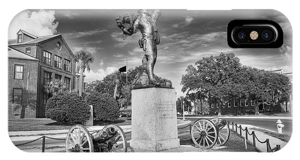 Iron Mke Statue - Parris Island IPhone Case