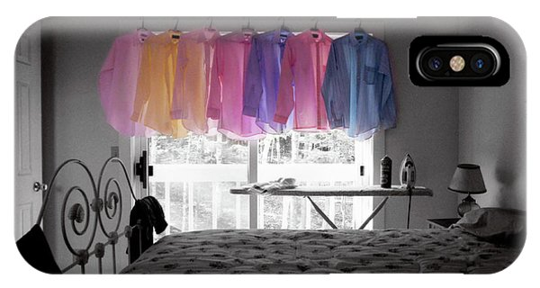 Ironing Adds Color To A Room IPhone Case