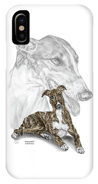 Irresistible - Greyhound Dog Print Color Tinted IPhone Case