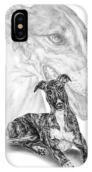 Irresistible - Greyhound Dog Print IPhone Case