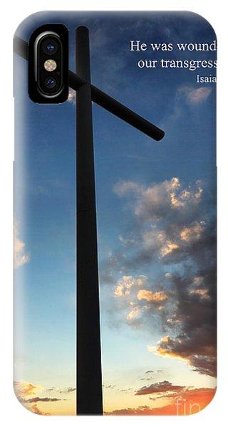 Isaiah 53-5 IPhone Case