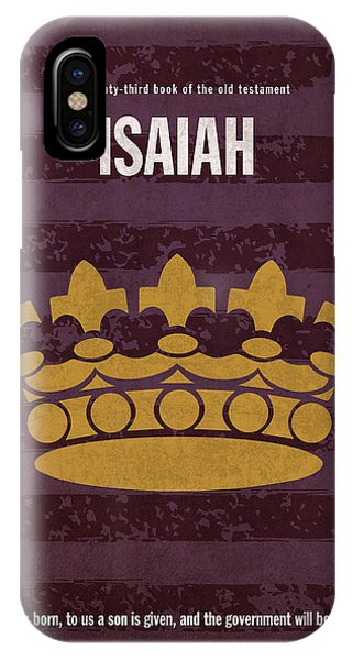 Isaiah Books Of The Bible Series Old Testament Minimal Poster Art Number 23 IPhone Case