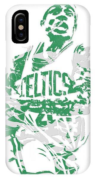 Celtics iPhone Case - Isaiah Thomas Boston Celtics Pixel Art 15 by Joe Hamilton