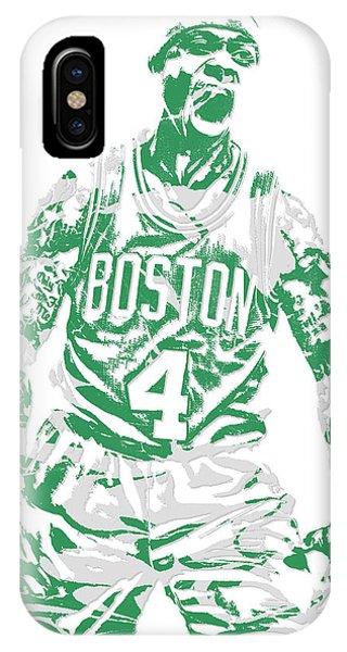 Celtics iPhone Case - Isaiah Thomas Boston Celtics Pixel Art 16 by Joe Hamilton