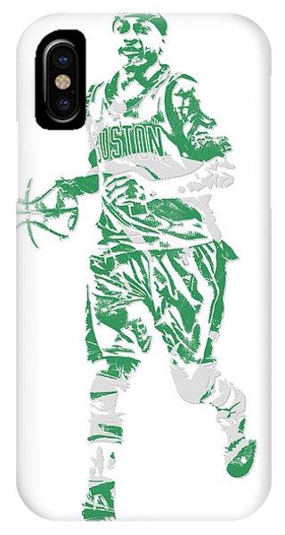 Celtics iPhone Case - Isaiah Thomas Boston Celtics Pixel Art 17 by Joe Hamilton