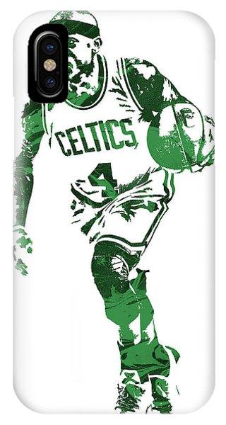 Celtics iPhone Case - Isaiah Thomas Boston Celtics Pixel Art 4 by Joe Hamilton
