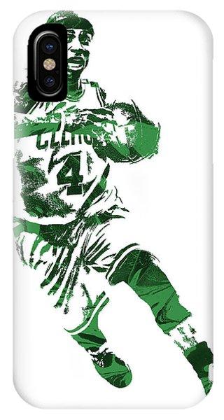Celtics iPhone Case - Isaiah Thomas Boston Celtics Pixel Art 5 by Joe Hamilton
