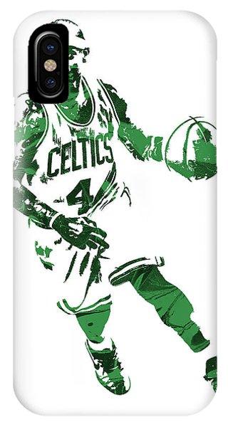 Celtics iPhone Case - Isaiah Thomas Boston Celtics Pixel Art 6 by Joe Hamilton