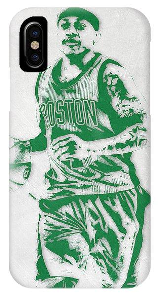 Celtics iPhone Case - Isaiah Thomas Boston Celtics Pixel Art by Joe Hamilton
