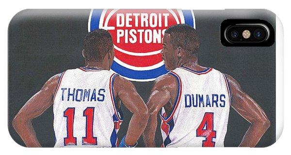 Isiah Thomas And Joe Dumars IPhone Case