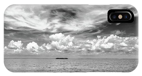 Island, Clouds, Sky, Water IPhone Case