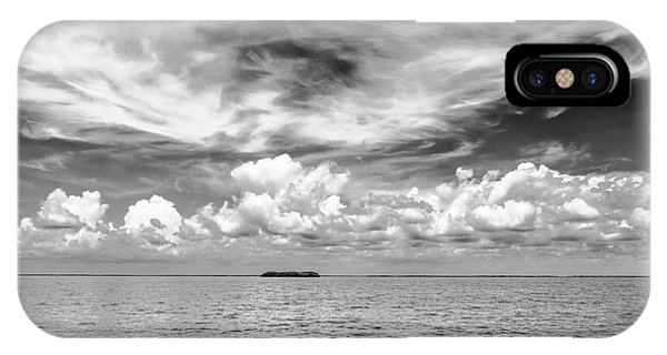 Island, Clouds, Sky, Water IPhone Case