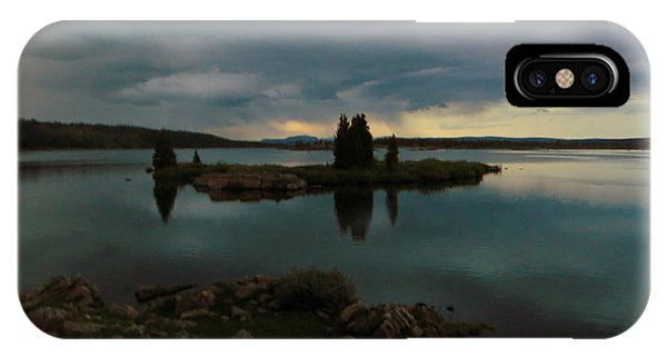 Island In The Storm IPhone Case