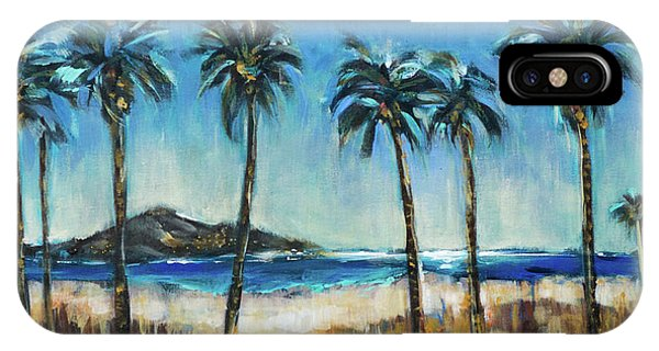 Island Lagoon At Night IPhone Case