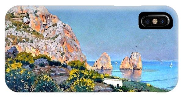 Island Of Capri - Gulf Of Naples IPhone Case