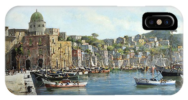 Island Of Procida - Italy- Harbor With Boats IPhone Case