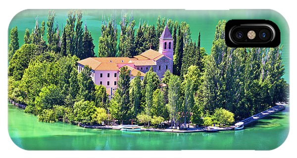 Island Of Visovac Monastery In Krka  IPhone Case