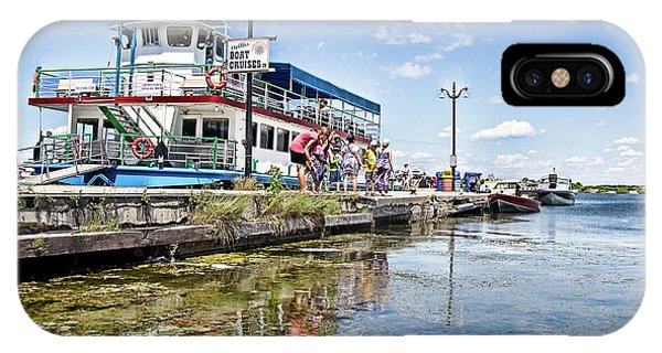 Island Princess At Harbour Dock IPhone Case