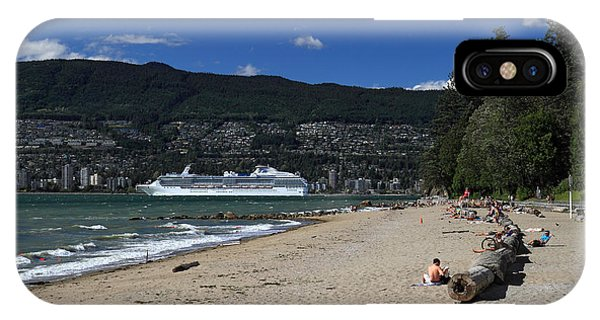 Island Princess Cruise Ship From Third Beach Stanley Park Vancouver B.c  Canada Phone Case by Pierre Leclerc Photography