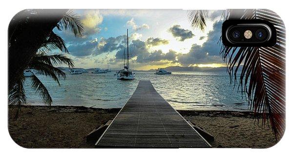 Catamaran iPhone Case - Island Sunset by Jon Neidert