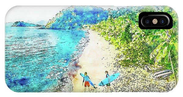 Island Surfers IPhone Case