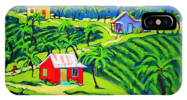 Island Time - Colorful Houses Caribbean Cottages IPhone Case