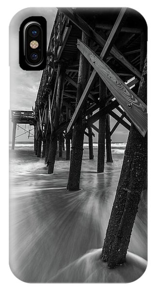 Isle Of Palms Pier Water In Motion IPhone Case