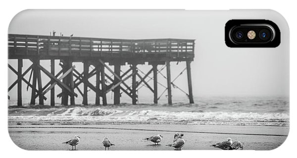 Isle Of Palms Pier And Fog IPhone Case