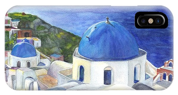 Isle Of Santorini Thiara  In Greece IPhone Case
