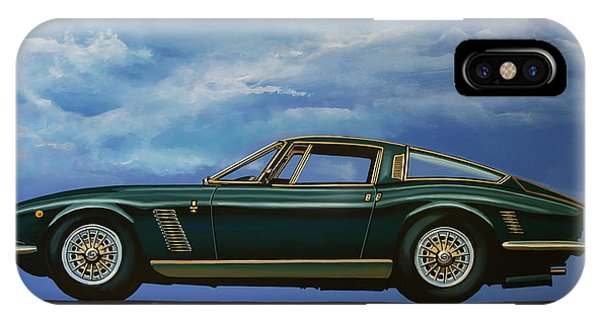 Oldtimer iPhone Case - Iso Grifo Gl 1963 Painting by Paul Meijering