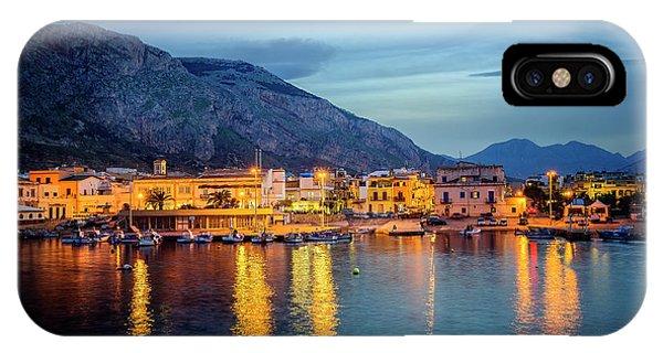 Isola Delle Femmine Harbour IPhone Case