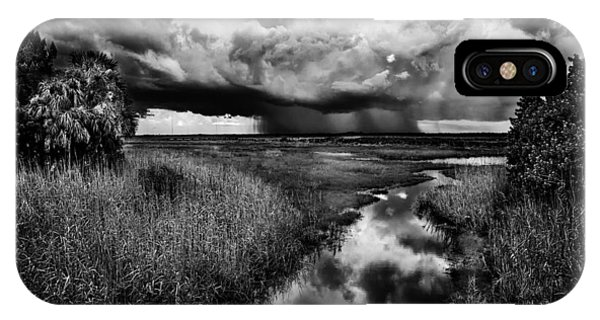 Isolated Shower - Bw IPhone Case