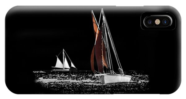 Isolated Yacht Carrick Roads On A Transparent Background IPhone Case