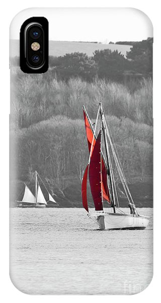 Isolated Yacht Carrick Roads IPhone Case