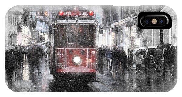 Istambool Historic Tram IPhone Case