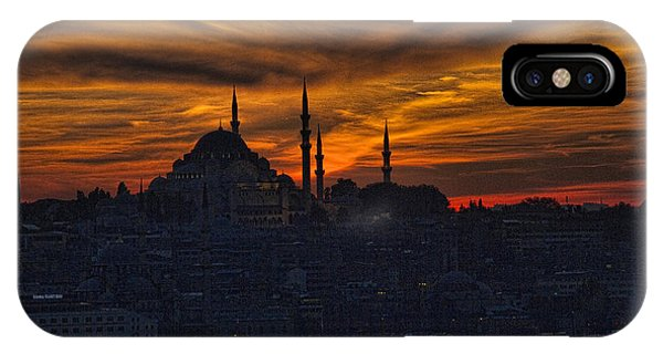 Port Orange iPhone Case - Istanbul Sunset - A Call To Prayer by David Smith